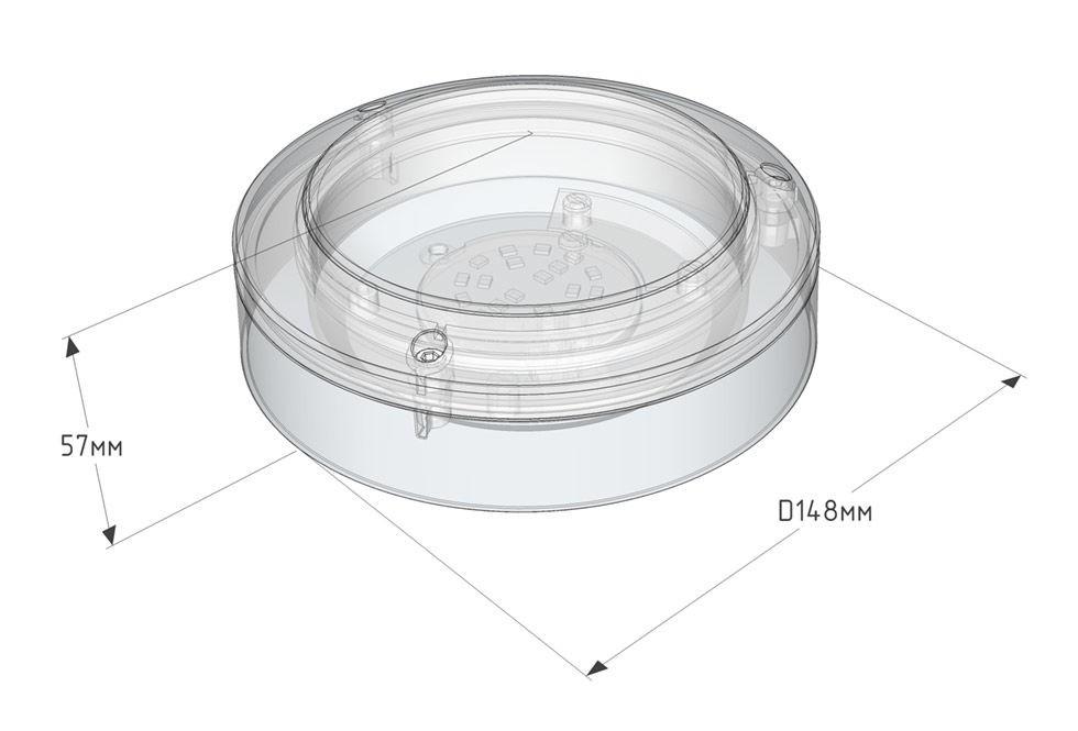 Светильник светодиодный Solo-S10, низковольтовый 12, 24, 36, 48, 110 В