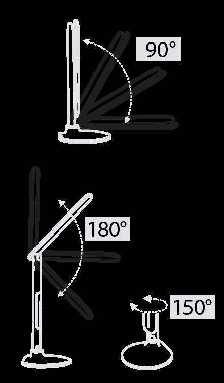 Настольный светодиодный светильник черный 10 Вт ALT-201B
