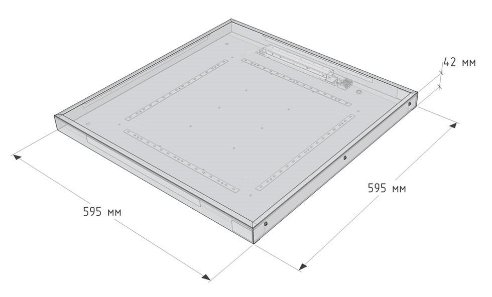 Светодиодный светильник потолочный Армстронг Led-42 с блоком аварийного питания