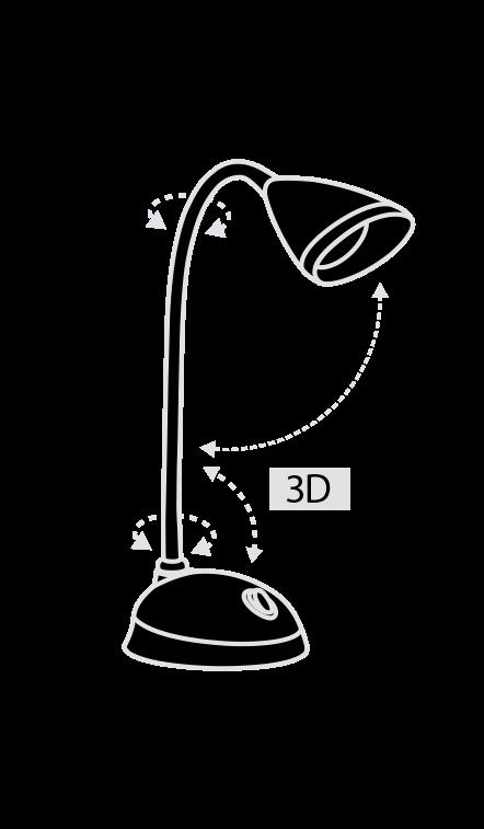 Настольная светодиодная лампа PULSAR ALT-331R
