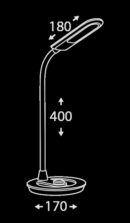 Настольная светодиодная лампа ALT-312 RD