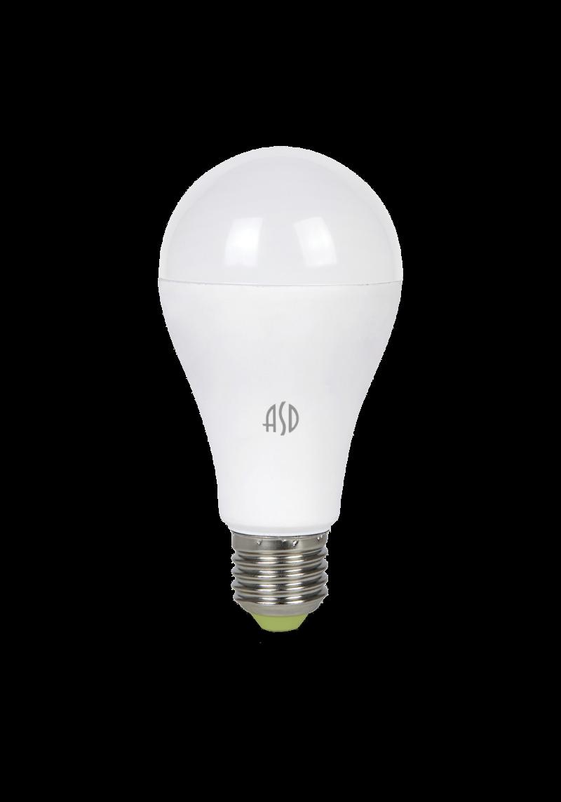 ЛАМПА СД LED-A60-STD 15ВТ Е27 3000K/4000K 1350ЛМ ASD