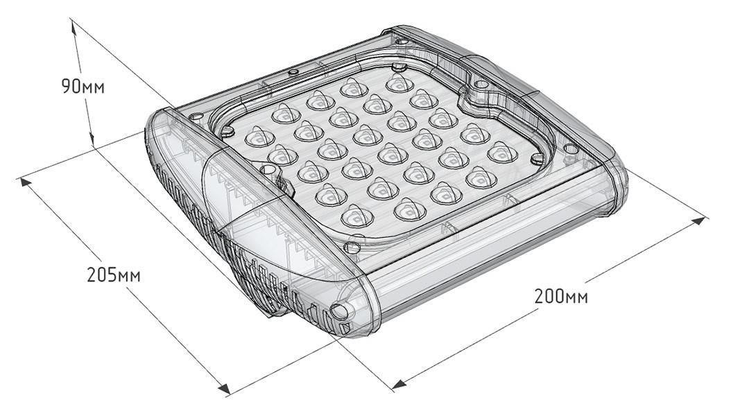 Промышленный светодиодный светильник UniLED Lite 40W