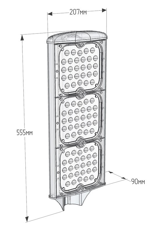 Светодиодный консольный светильник LuxON UniLED 120W-S